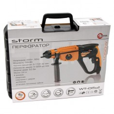 Rotary hammer STORM SDS PLUS 920 W, 0-980 rpm, 0-5185 bpm, 3 modes, case+accessories INTERTOOL WT-0152: фото 3