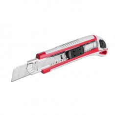3 snap-off blade knife 18 mm, with metal guide, anti-slip body INTERTOOL HT-0508: фото 4