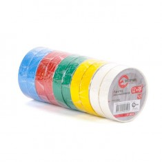Insulating tape, 0,15mmx17mmx20m (pack 10pcs), many-coloured INTERTOOL IT-0024: фото 2